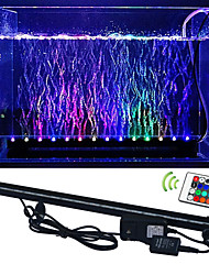 6W RGB  Fish Tank Plant Aquarium Led light Underwater Bubble Light Lamp With Remote aquarium led lighting