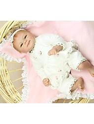 NPKDOLL Reborn Baby Doll Hard Silicone 16inch 40cm Magnetic Lovely Lifelike Toy Cute Boy Girl Smile White