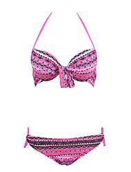 Bikinis Aux femmes Fleur Push-up / Soutien-gorge Rembourré / Soutien-gorge à Armatures Bandeau Nylon / Spandex