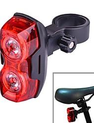 3-modo 2-luz conduzida da bicicleta vermelha bicicleta explosão levou luz intermitente traseira (2 x AAA)
