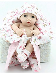 NPKDOLL Reborn Baby Doll Hard Silicone 11inch 28cm Waterproof Toy Small Quilt Girl