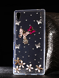 DIY Butterfly Pattern TPU Soft Case for Multiple Sony Xperia Z5