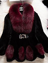 Women Rex Rabbit Fur Outerwear , Lined