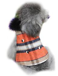 Cani Cappottini Rosso Inverno A quadri Di tendenza