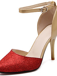 Women's Shoes Stiletto Heel D'Orsay & Two-Piece / Ankle Strap / Pointed Toe Sandals Casual Blue / Red / Silver / Gold