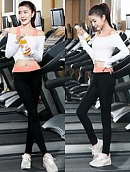 Women Sexy Fashion Sports Casual Running Suit Yoga Sets Gym Suits (Suits =Bra Vest + Long Sleeve Top + Trousers)