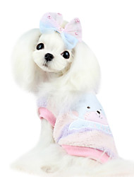 Dog Shirt / T-Shirt / Clothes/Jumpsuit Blue / Pink Dog Clothes Spring/Fall Cartoon / Bowknot Fashion
