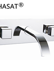 Waterfall Contemporary Chrome Brass Wall Mounted
