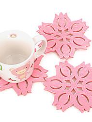 жаропрочные в форме лотоса цветок Снежинка подстаканники розовый цвет держатель чашки