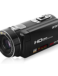 ordro® HDV-Z80 1080p videocamera digitale / zoom digitale 120x&Zoom ottico 10x / TFT touch screen da 3 ""