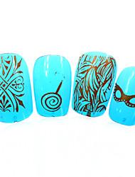 1pcs nieuwe 12x6cm image diy stamping platen nail art templates stencils voor polish xy-L26