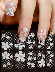 1pcs Nail Decorations Foils Sexy Lace Full Tips for Beauty Nail Art Sticker Decals Water Transfer Manicure Styling Tools