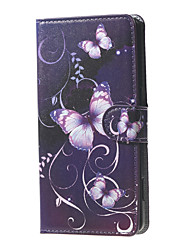 For DOOGEE Case Card Holder / with Stand / Flip / Pattern Case Full Body Case Butterfly Hard PU Leather DOOGEE