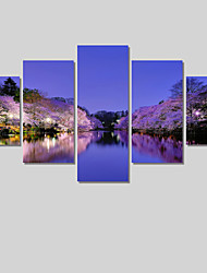 5 Panel Modern Lake Scenery Painting Canvas Art Cuadros Decoracion Wall Picture For Living Room Unframed