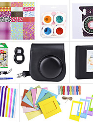 pacotes de acessórios da câmara definida para mini-Fujifilm Instax 8 (mini filme / mini-8 caso / etiqueta / álbum etc. (preto)