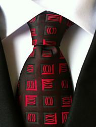 Corbata (Negro / Rojo , Poliéster)- Diseño