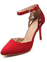 Chaussures Femme - Habillé / Décontracté / Soirée & Evénement - Noir / Jaune / Rouge - Talon Aiguille - Talons - Talons - Tissu