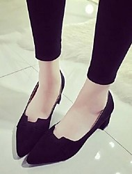 Women's Shoes Suede Pump All Match Fashion Chunky Heel Comfort / Pointed Toe Heels Party & Evening / Dress