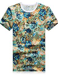 New Mens summer t-shirt t-shirt personality pattern Metrosexual short sleeved casual T-shirt