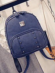 Women PU Backpack Blue / Green / Red / Gray