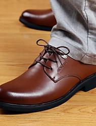 Chaussures Hommes Travaille Noir / Marron Similicuir Richelieu