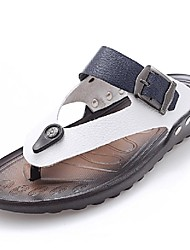 Men's Shoes Outdoor / Office & Career / Work & Duty / Athletic / Dress / Casual Nappa Leather Flip-Flops White