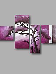 Peint à la main Abstrait Paysage Paysages Abstraits Toute forme,Moderne Quatre Panneaux Toile Peinture à l'huile Hang-peint For