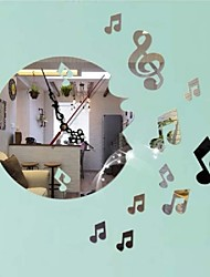 Creative Wall Clock DIY Musical Note Acrylic Clock Home Wall Decal Decor Art Sticker Mural Art Decal Wall Sticker
