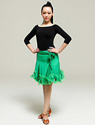 High-quality Viscose with Ruffles Latin Dance Outfits for Women's Performance(More Colors)
