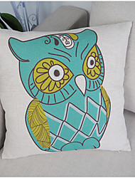 Cotton Linen Owl PillowCase Factory Price Fashion 18inch Room Pillow Cover Decorative Square Cartoon Home Bed 6 colors