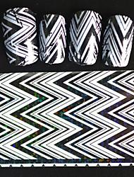 5pcs 20*4cm 2016 New Japanese White  Series Nail Art Big Wave Image Design Transfer Foils DIY Nail Sticker STZ Jw5