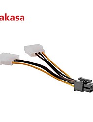 Akasa 4pin Molex to 6pin PCIe Adapter Provides PSU Support For PCIe VGA Cards