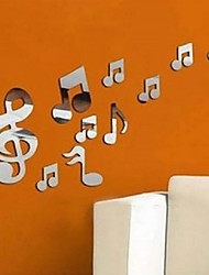 New Musical Notes Modern Removable Art Mirror Wall Sticker Home Bath Decal Decor