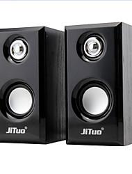 usb portable de jituo 2.0 canaux haut-parleurs multimédia stéréo alimenté jt2803yx