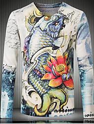 Men's Print Casual T-Shirt,Cotton Short Sleeve-Multi-color