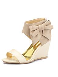 Women's Shoes Heel Wedges / Heels / Peep Toe Sandals / Heels Outdoor / Dress / Casual Pink / Purple / Almond