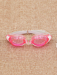 Swimming Goggles Unisex Waterproof Silica Gel Plastic Transparent Yellow / Red