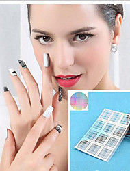 1Pcs Unique  Nail Vinyls Stencil Stickers Nail Polish Painting Tools  Airbrush Tip Guide Manicure Art Nail Decal Foils