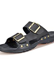 Men's Shoes Outdoor / Casual Flip-Flops Black / Brown