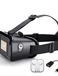 """realidade virtual óculos 3d vedio Headmount 3D do Google óculos de visualização 3.5 smartphones """"-6.0"""" com um fone de ouvido e um OTG"""