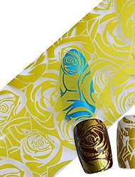 Nastro adesivo decorativo in alluminio / Glitter-Fiore / Matrimonio- perDito / Dito del piede- diAltro-1pcs-100*4cm