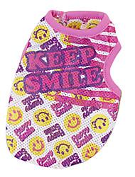Hunde T-shirt Gelb / Rose Hundekleidung Sommer Karton Modisch