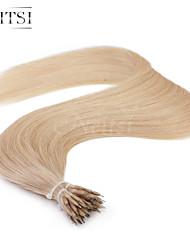 """neitsi® 20 """"1 g / s nano Ringschleife gerades Haar 100% Echthaar Haarverlängerungen 24 # include Haar-Tools"""