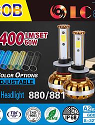 liancheng® 60w 6400lm 9 ~ 32V hohe Helligkeit cob LED-Scheinwerfer-Kit-880/881 für Auto, Off-Road, utv, atv