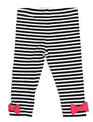 Pantalones Chica de - Todas las Temporadas - Algodón - Negro