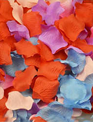 100pcs Pack Wedding Party Heart Shaped Multicolor Silk Rose Petals Kitchen Dinner Table Deco