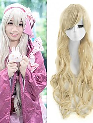 Hot Selling ! European Long Wave Wigs Blonde Color Synthetic Wigs