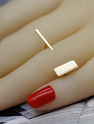 Ring Party / Daily / Casual Jewelry Alloy Women / Men / Couples Band Rings 1pc,Adjustable Gold / Silver