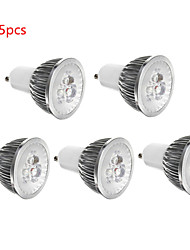 5pcs 3W GU10/GU5.3/E27/E14 350LM Warm/Cool White Color Light LED Spot Lights(85-265V)