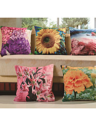 Baolisi Set of 5 3D International Flower Decorative Pillow /Children of the World